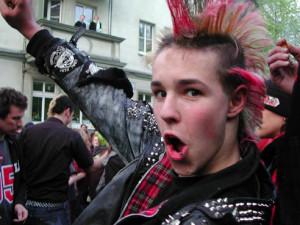 punk red hair