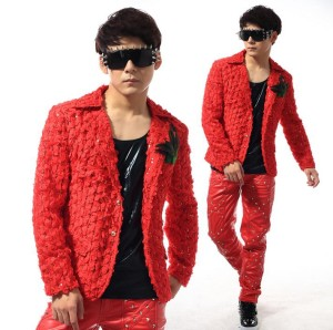 punk red suit